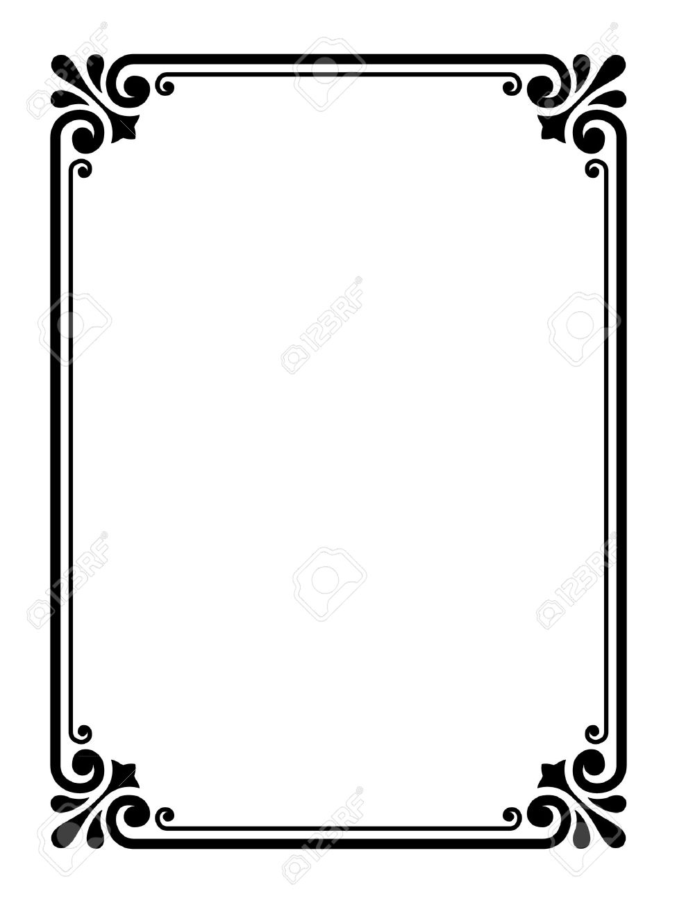 vector simple calligraph ornamental decorative frame pattern royalty rh 123rf com border vector free border vector png