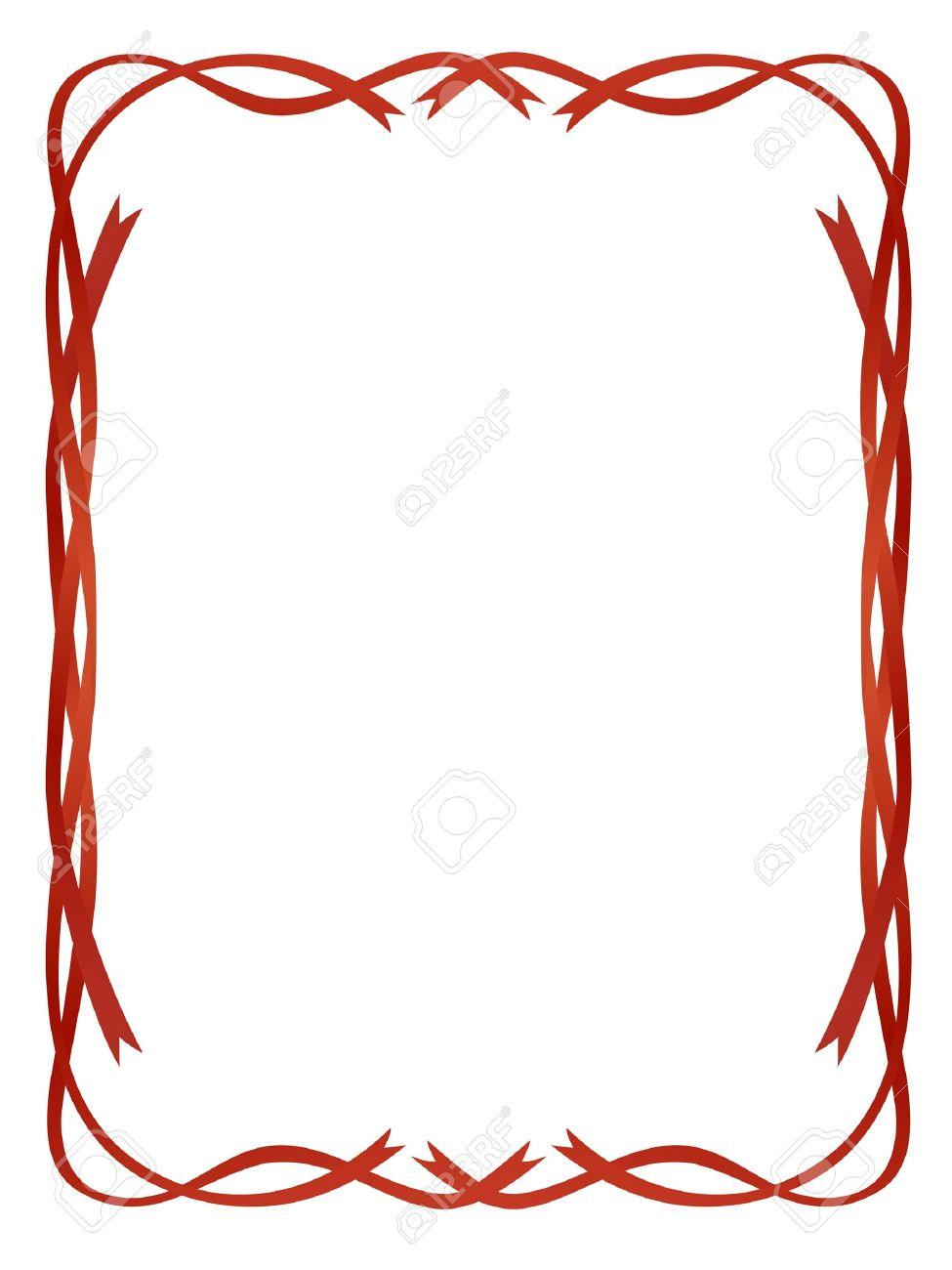 vector frame red ribbons isolated on white pattern royalty free rh 123rf com vector picture frame border picture frame vector pack