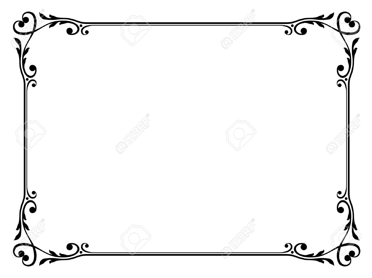 vector calligraphy ornamental decorative frame with heart royalty rh 123rf com vector frames and borders vector frame borders