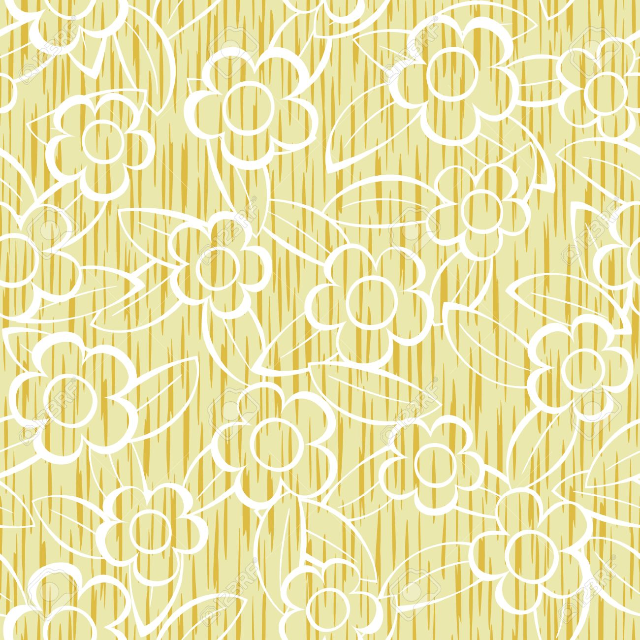 Vector abstract flowers seamless repeat pattern background Stock Vector - 11655529