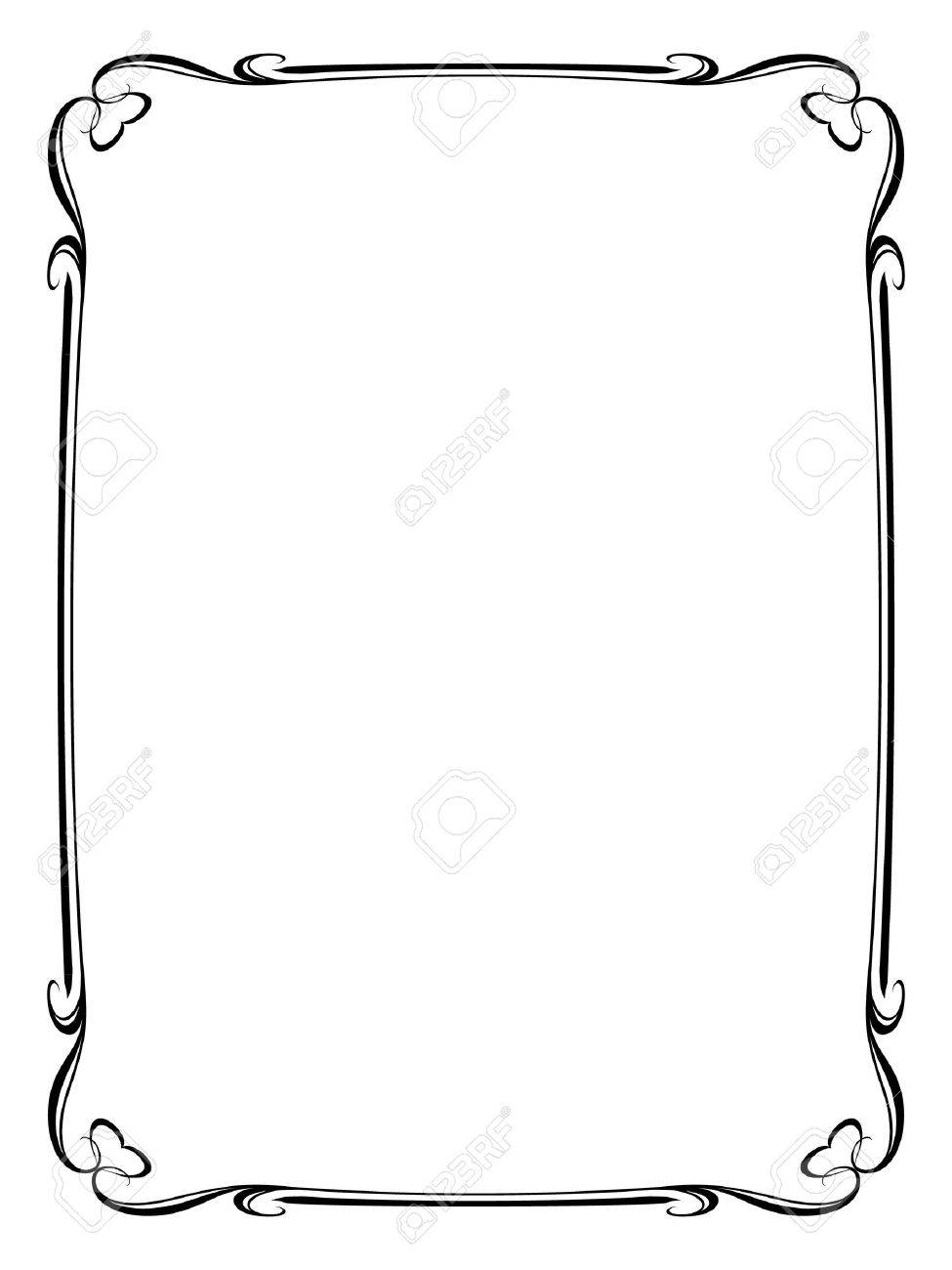 Vector calligraphy ornamental decorative frame with heart - 11655516