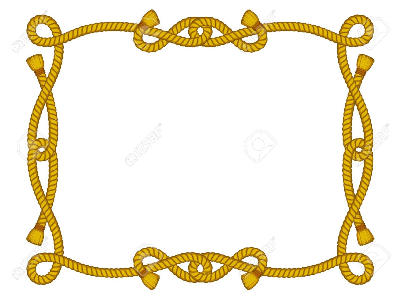 frame from rope isolated on white Stock Vector - 11889520