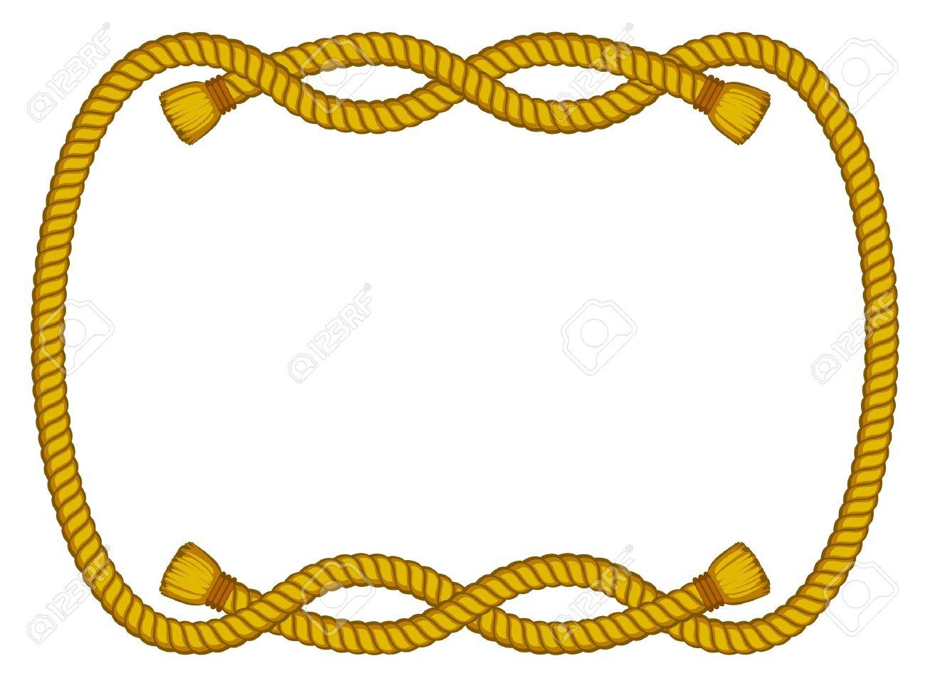 Vektor-Rahmen Aus Seil Isoliert Auf Weiß Lizenzfrei Nutzbare ...