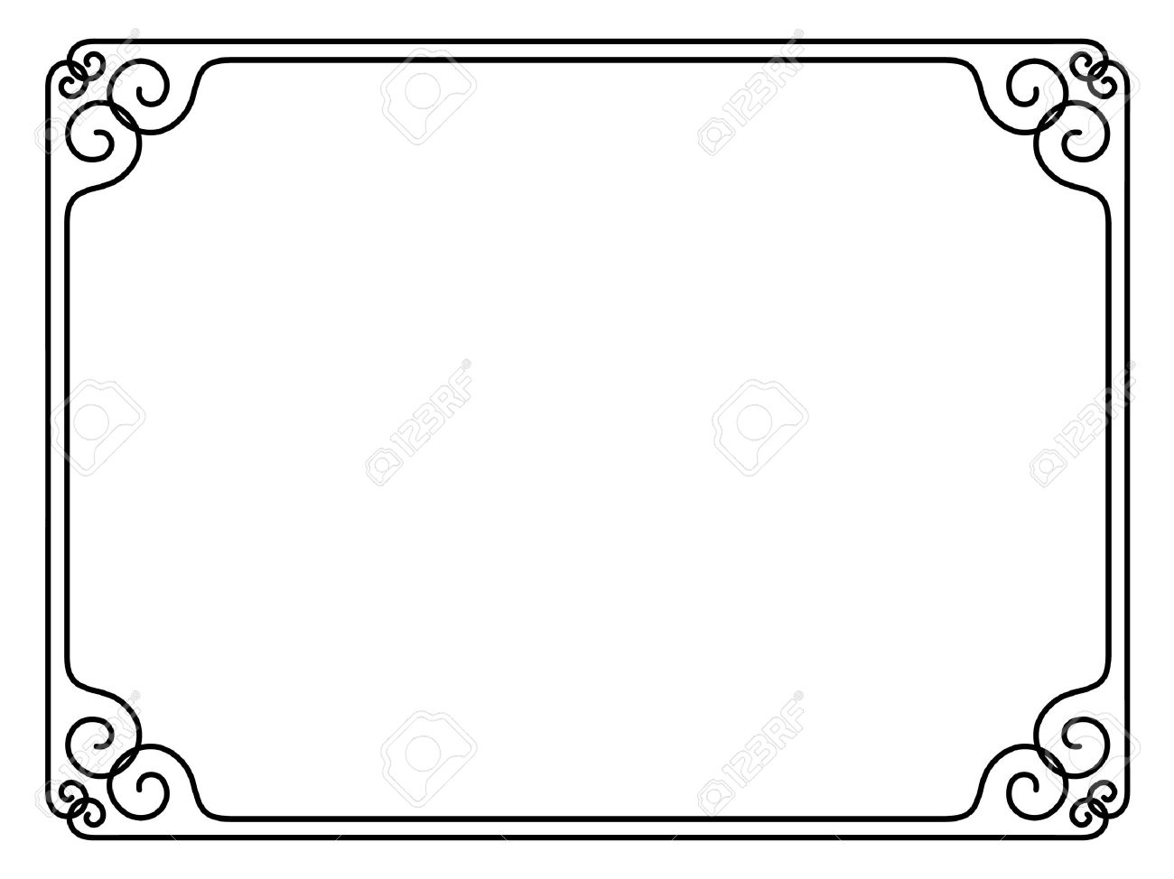 Vector simple calligraph ornamental decorative frame pattern Stock Vector - 11976228