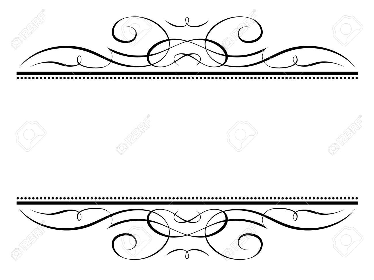 Vector calligraphy vignette ornamental penmanship decorative frame Stock Vector - 12375402