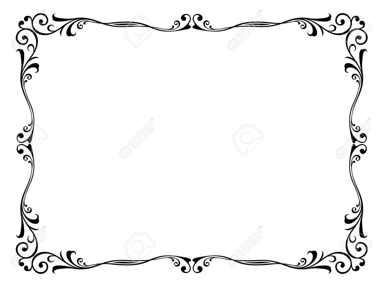 Vector floral abstract ornamental decorative frame pattern Stock Vector - 12375399