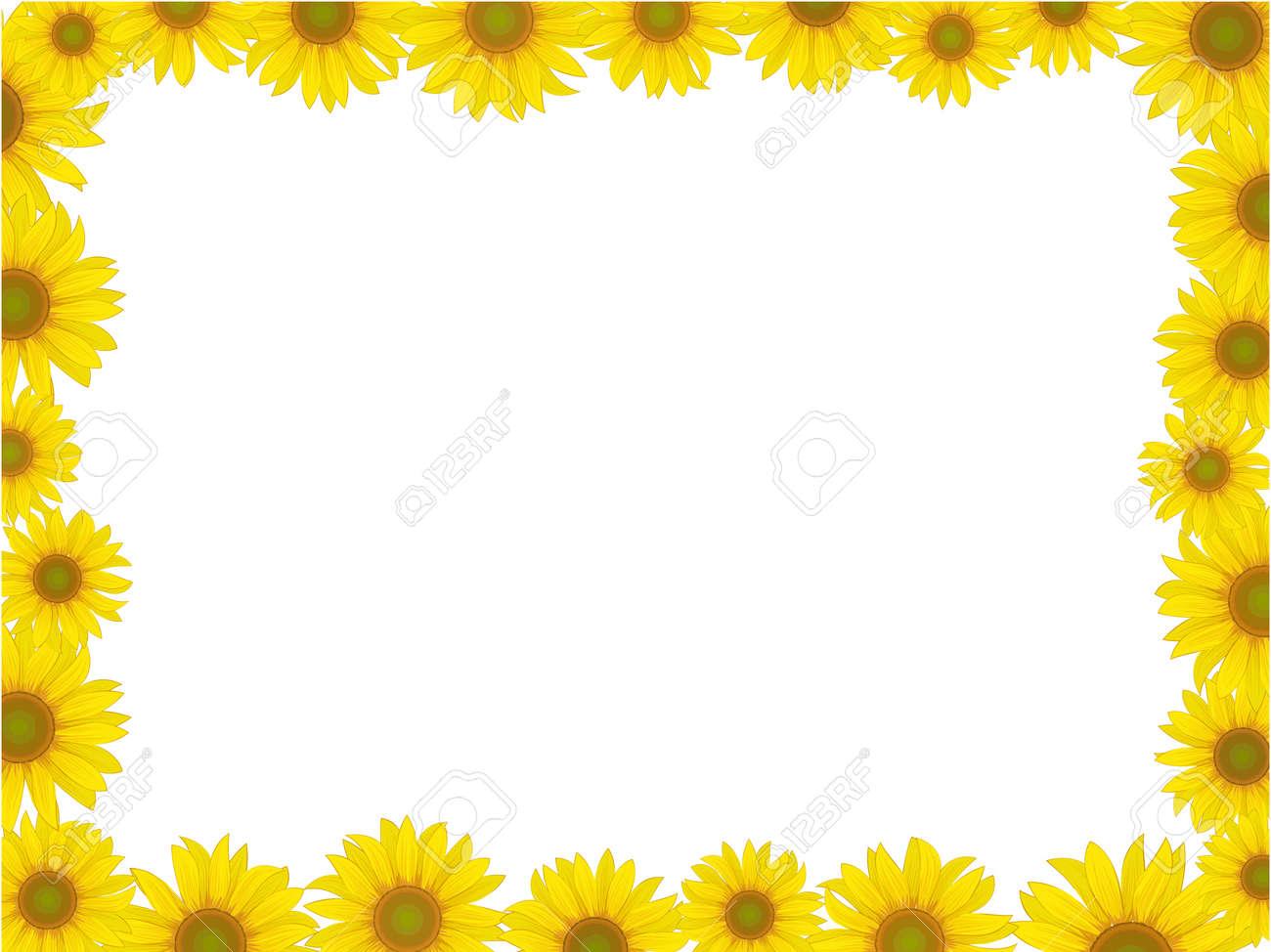 vector yellow sunflower postcard frame background pattern Stock Vector - 12375392