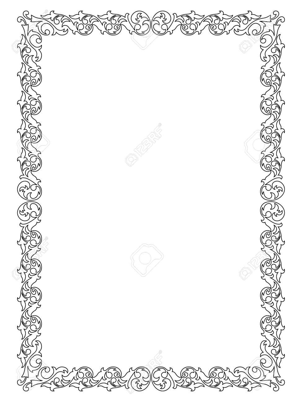 simple calligraph ornamental decorative frame pattern Stock Vector - 12494792