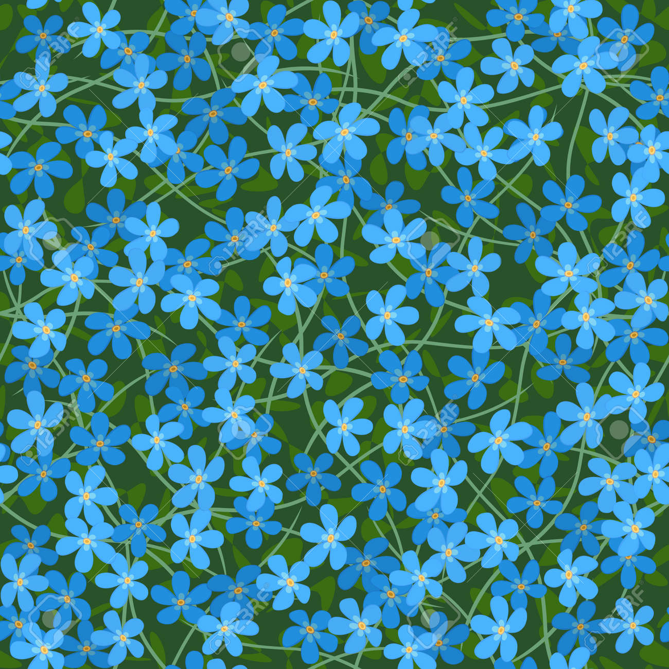 forget me not seamless flowers background Stock Vector - 12494803