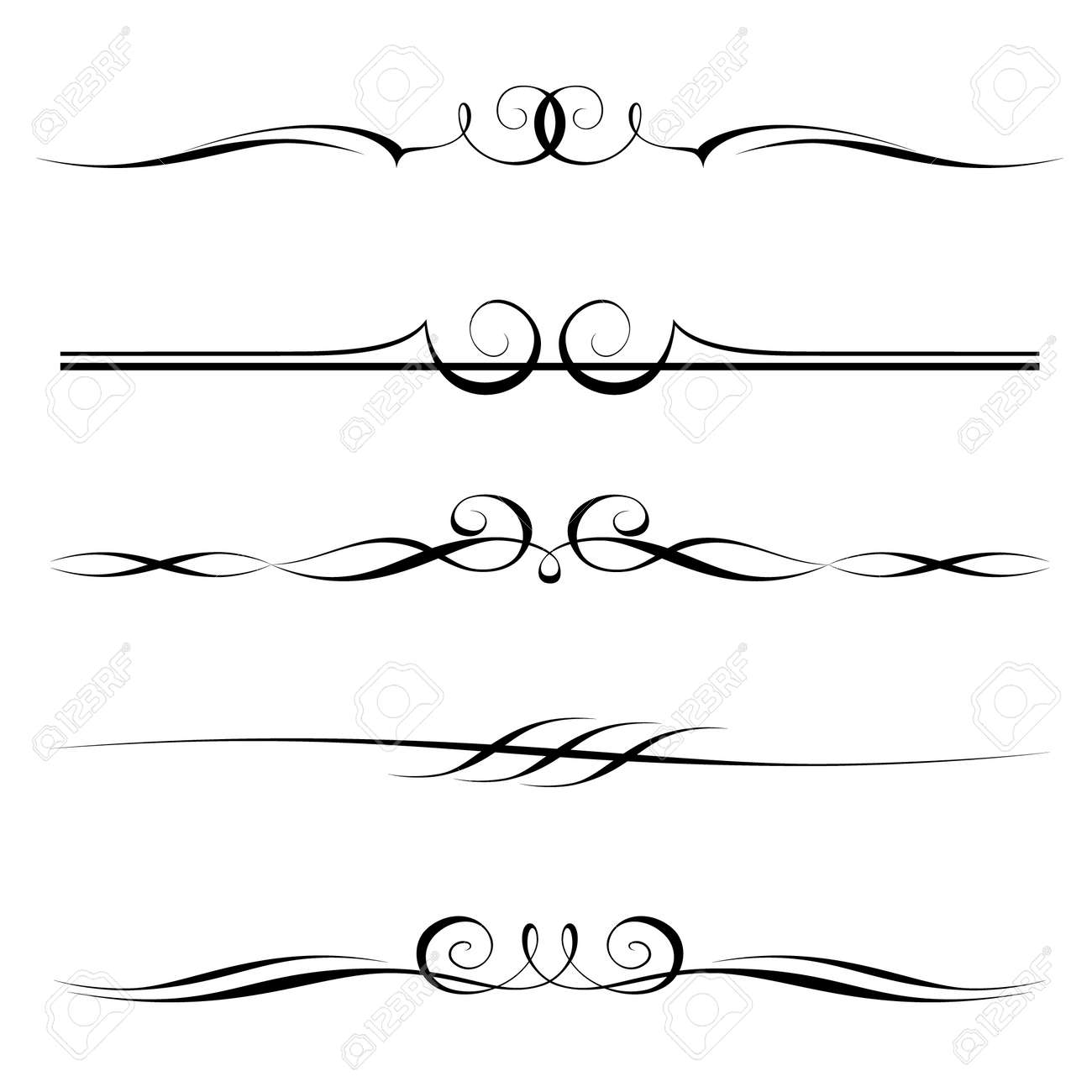 set of decorative elements, border and page rules frame Stock Vector - 12494733