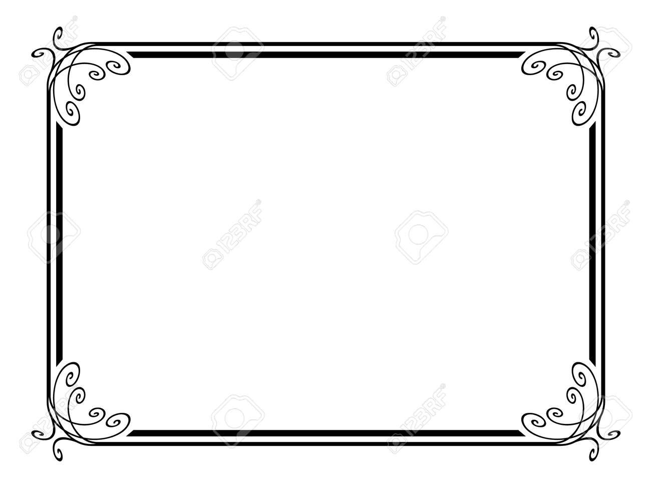 simple calligraph ornamental decorative frame pattern Stock Vector - 12494743