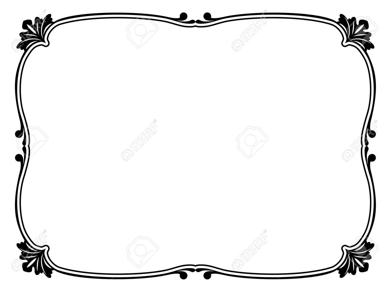 simple calligraph ornamental decorative frame pattern Stock Vector - 12494818