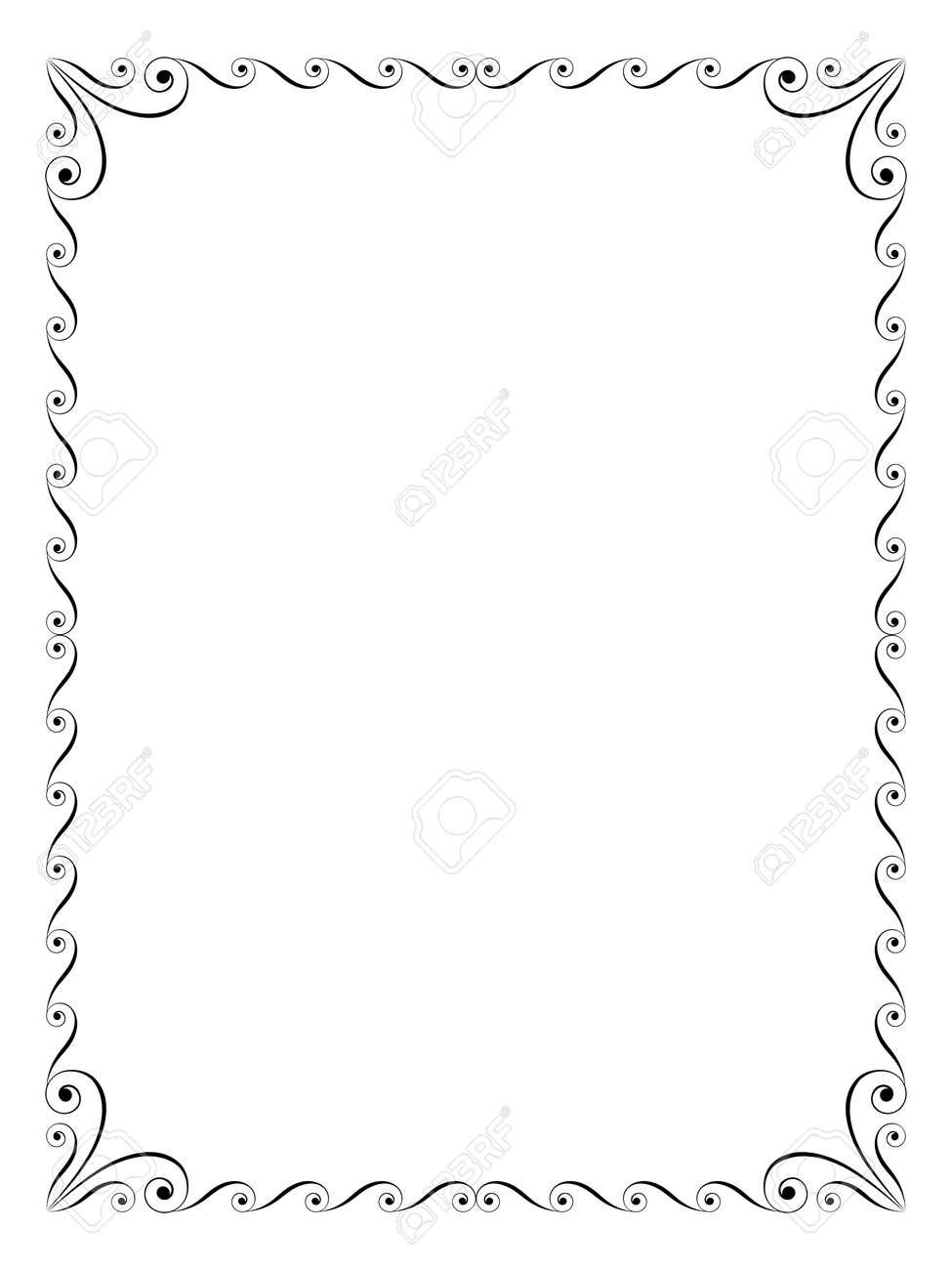 書道ペン習字観賞デコ フレーム ブラックのイラスト素材ベクタ Image
