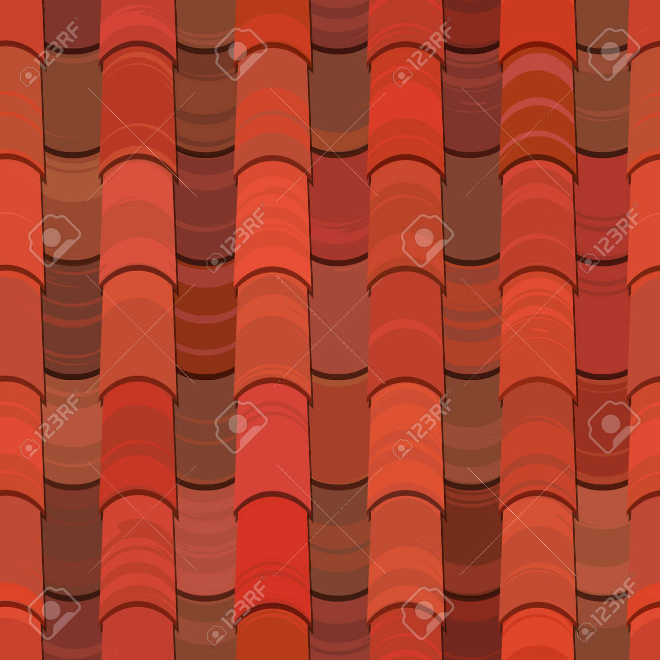 Red Clay Ceramic Roof Tiles Seamless Texture Stock Vector   13551600