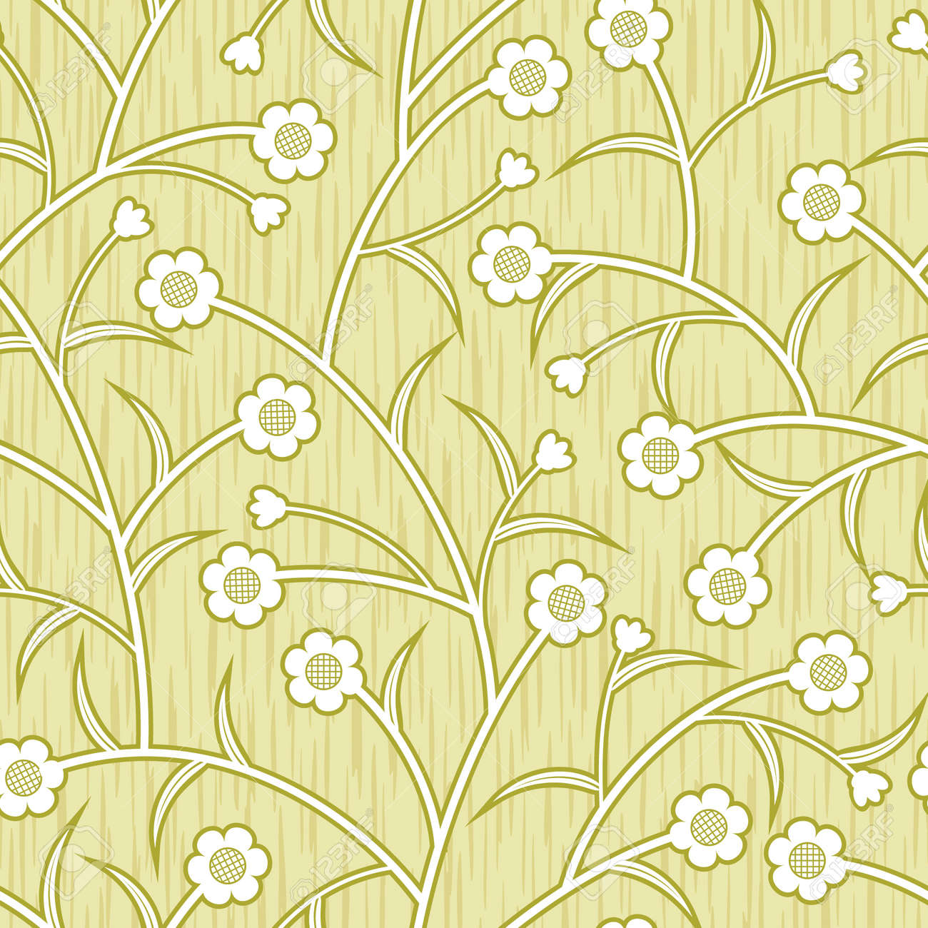 Abstract flowers floral beige seamless background Stock Vector - 14387654