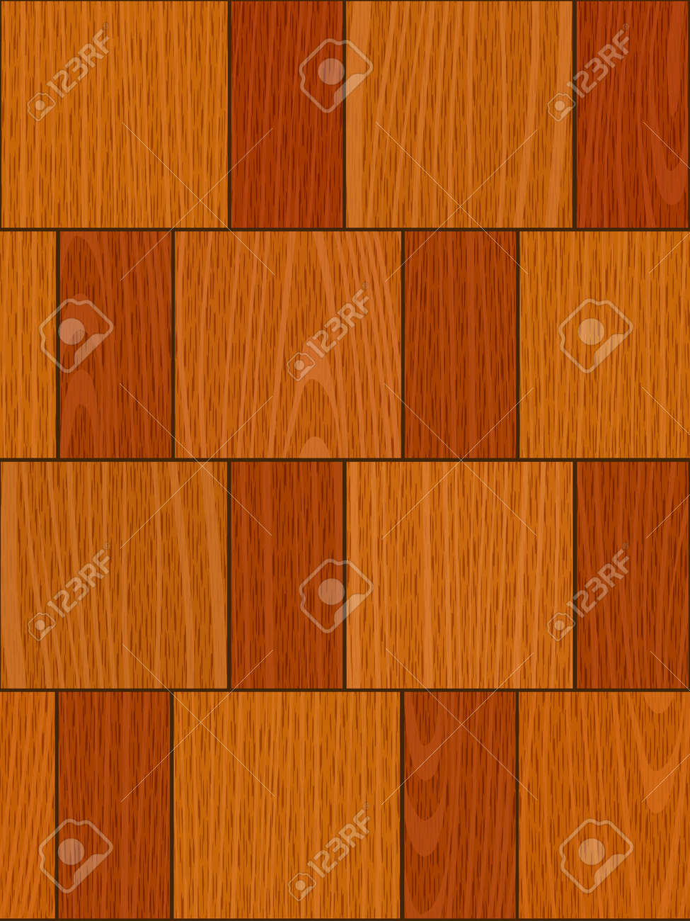 seamless old light oak square parquet panel wall texture Stock Vector - 16885139