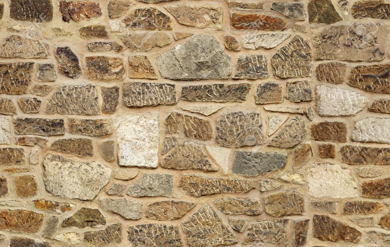 seamless ashlar old stone wall texture background Stock Photo - 17112702
