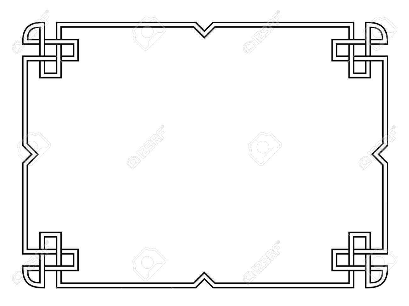 Roman style black ornamental decorative frame pattern isolated Stock Vector - 18226846