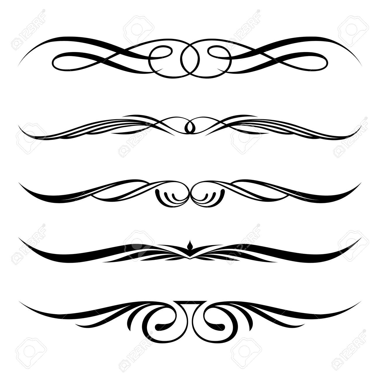 Decorative Borders For Word Swirl Border Images Stock Pictures Royalty Free Swirl Border