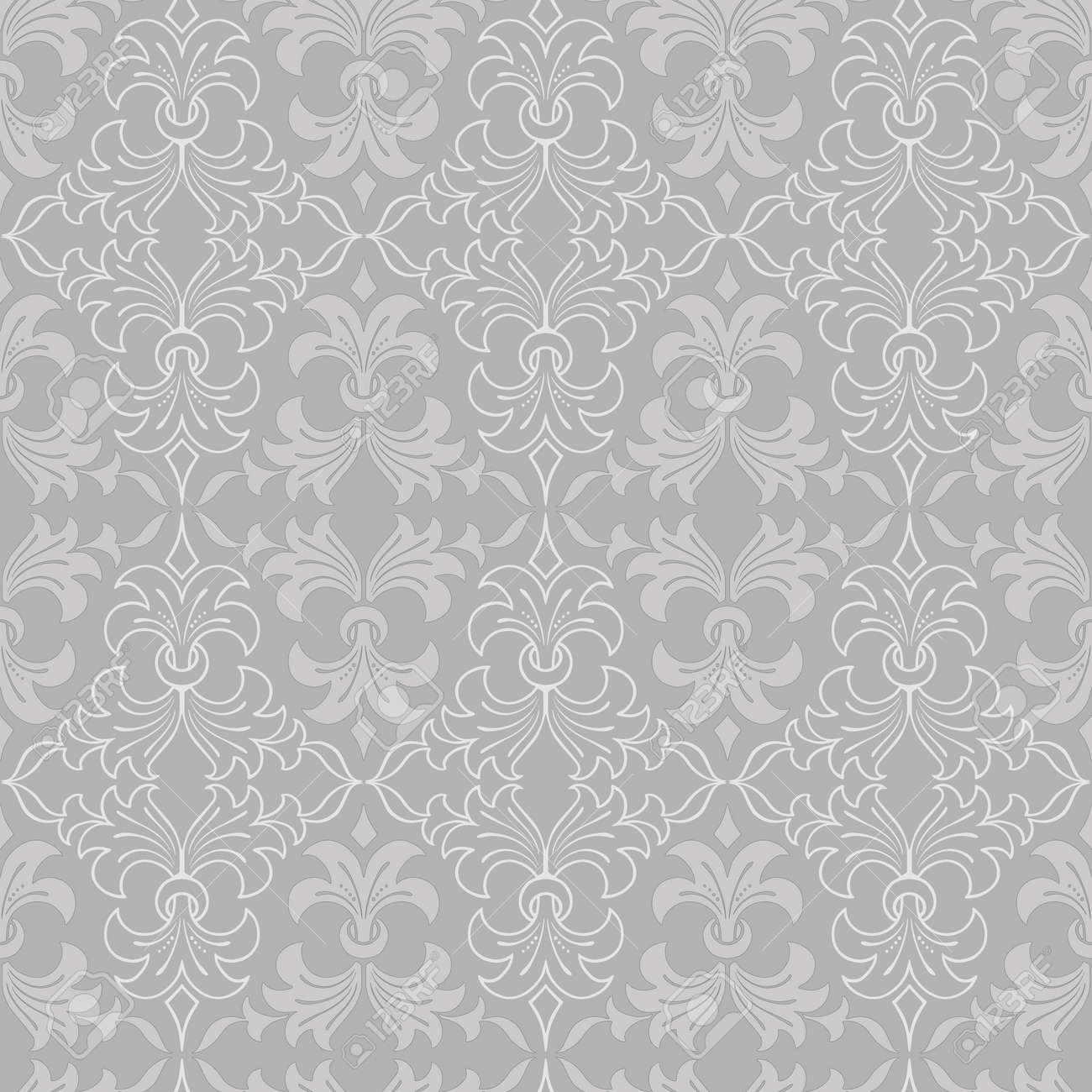 Seamless Light Colours Floral Abstract Wallpaper Pattern