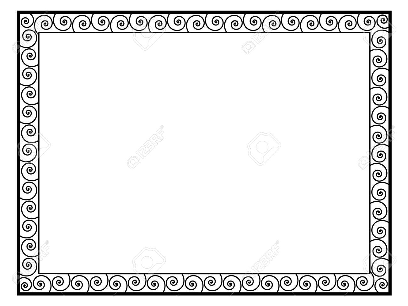 Greek style black ornamental decorative frame pattern isolated greek style black ornamental decorative frame pattern isolated stock photo 20870531 jeuxipadfo Gallery