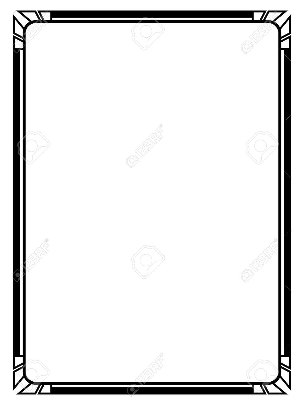 vector art deco black calligraph ornamental decorative frame rh 123rf com art deco vector borders art deco vector frames