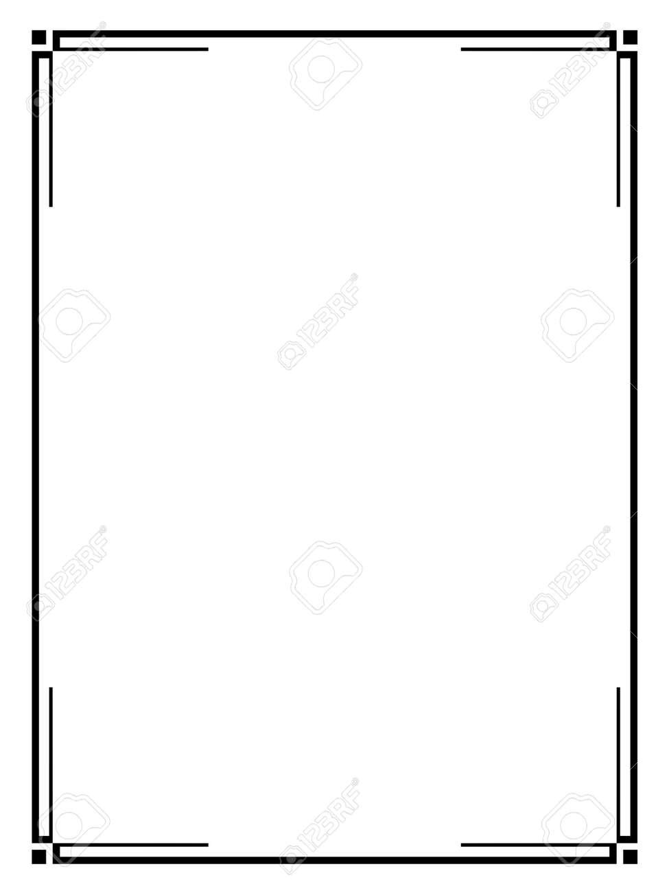 vector art deco black calligraph ornamental decorative frame rh 123rf com art deco vector art deco vector
