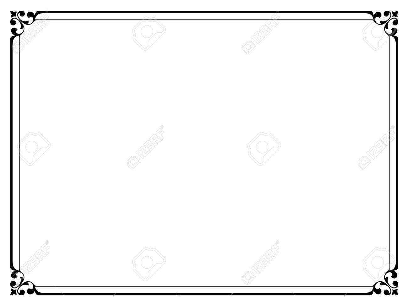 vector simple black calligraph ornamental decorative frame pattern