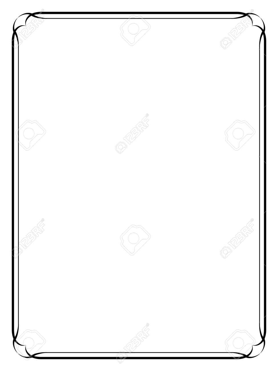 simple calligraph black ornamental decorative frame - 158226765