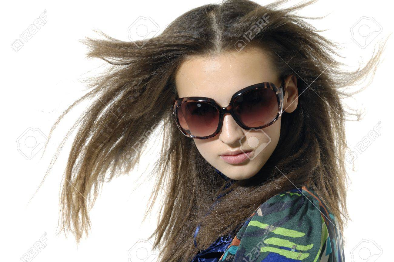 young model wearing the big sunglasses. Stock Photo - 11120647