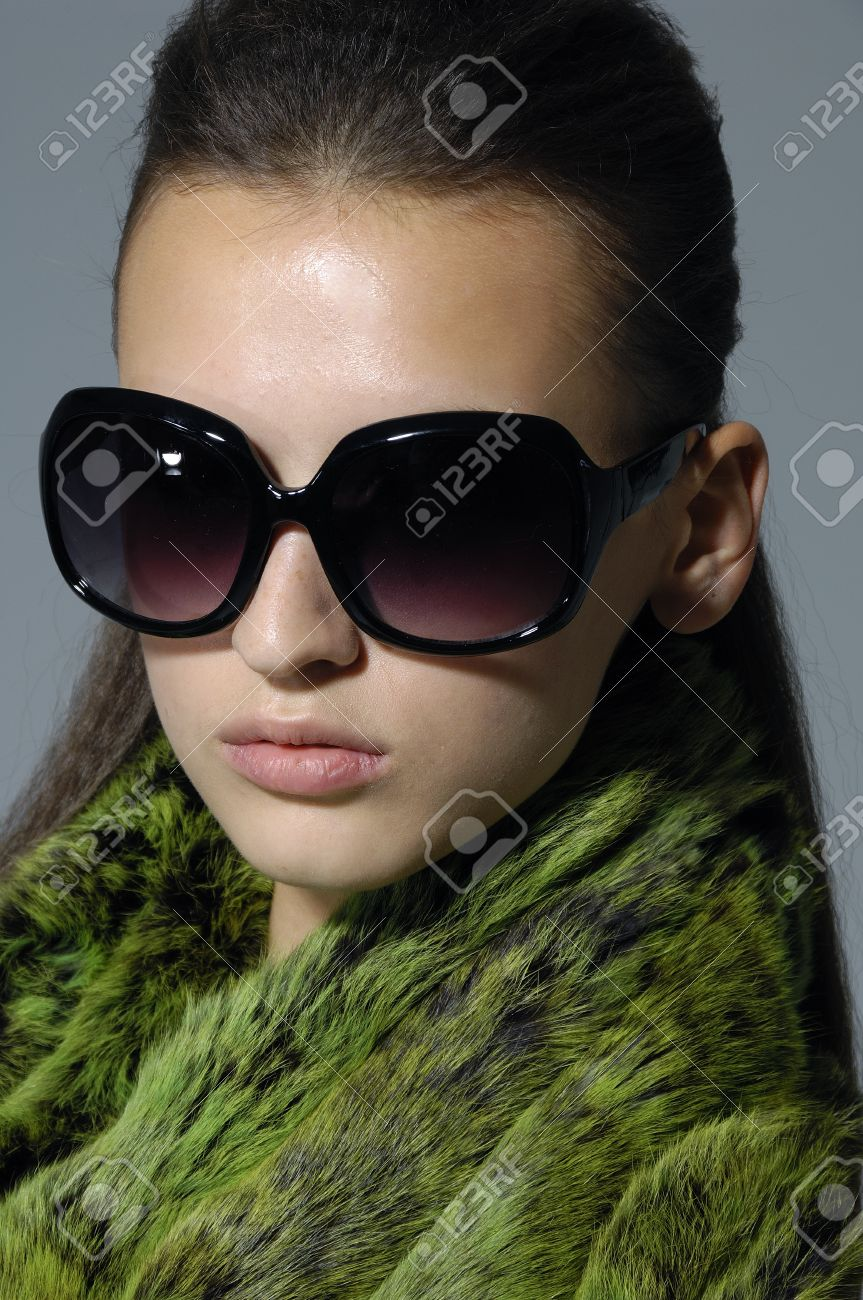 big sunglasses  Beautiful Girl Wearing The Big Sunglasses. Stock Photo, Picture ...