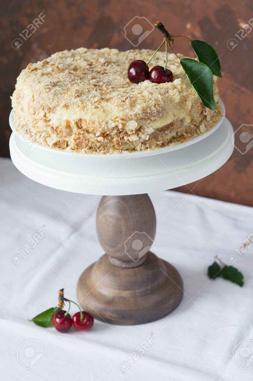 Napoleon Cake Stock Photo Picture And Royalty Free Image Image
