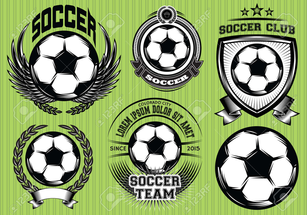 Set Of Soccer Football Badge And Logo Design Templates Royalty Free