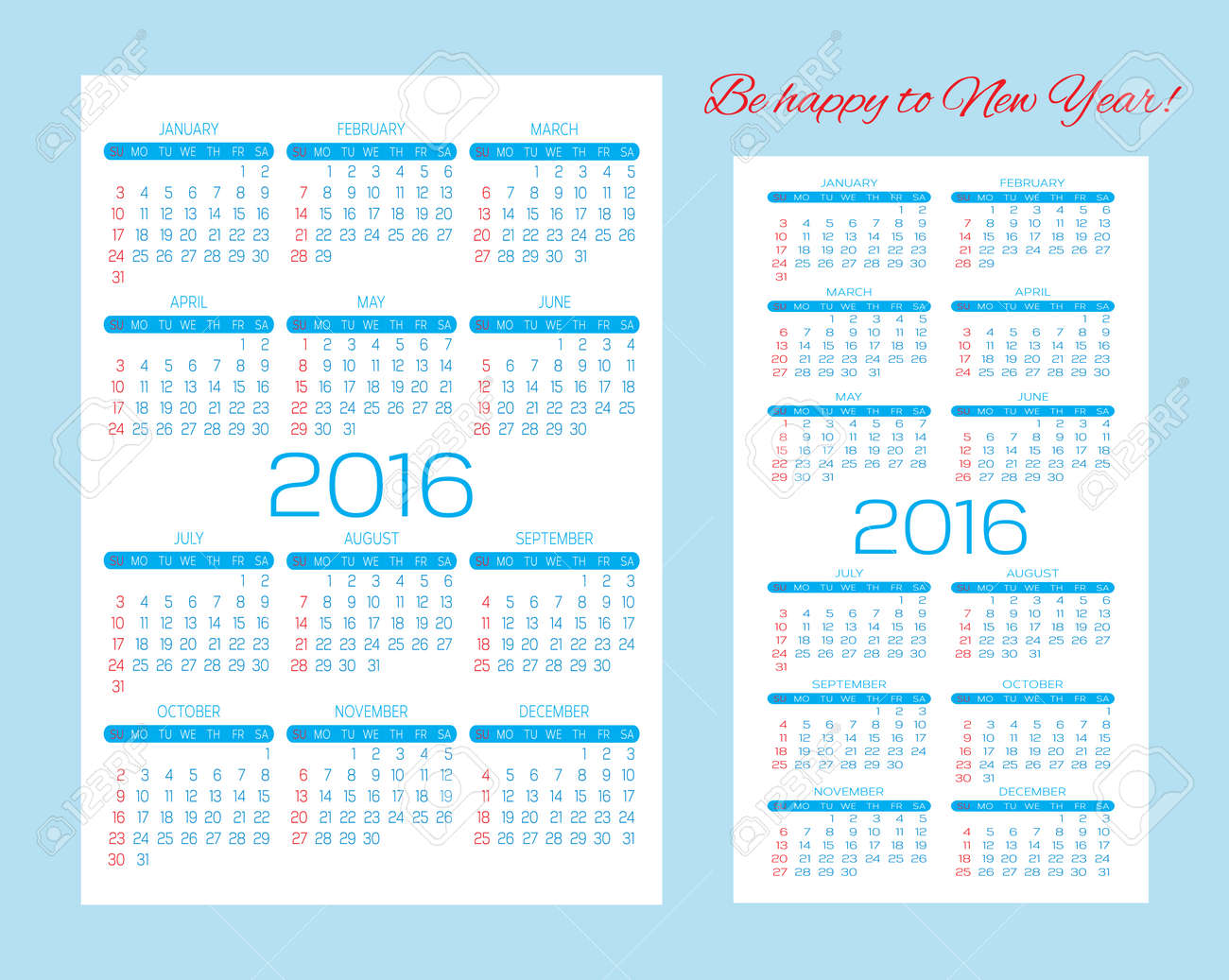 editable templates for calendars pocket calendars and business cards stock vector 47539367