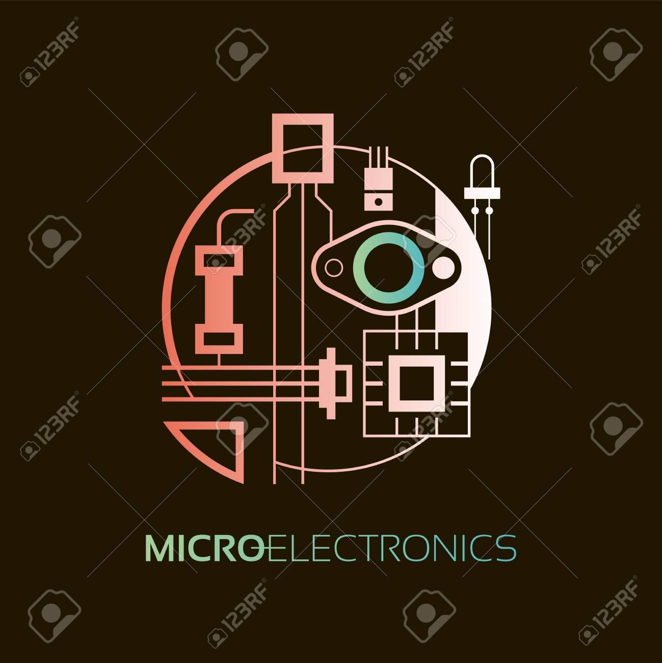 Elektronische Bauteile. Das Zeichen Und Symbol Für Die Erstellung ...