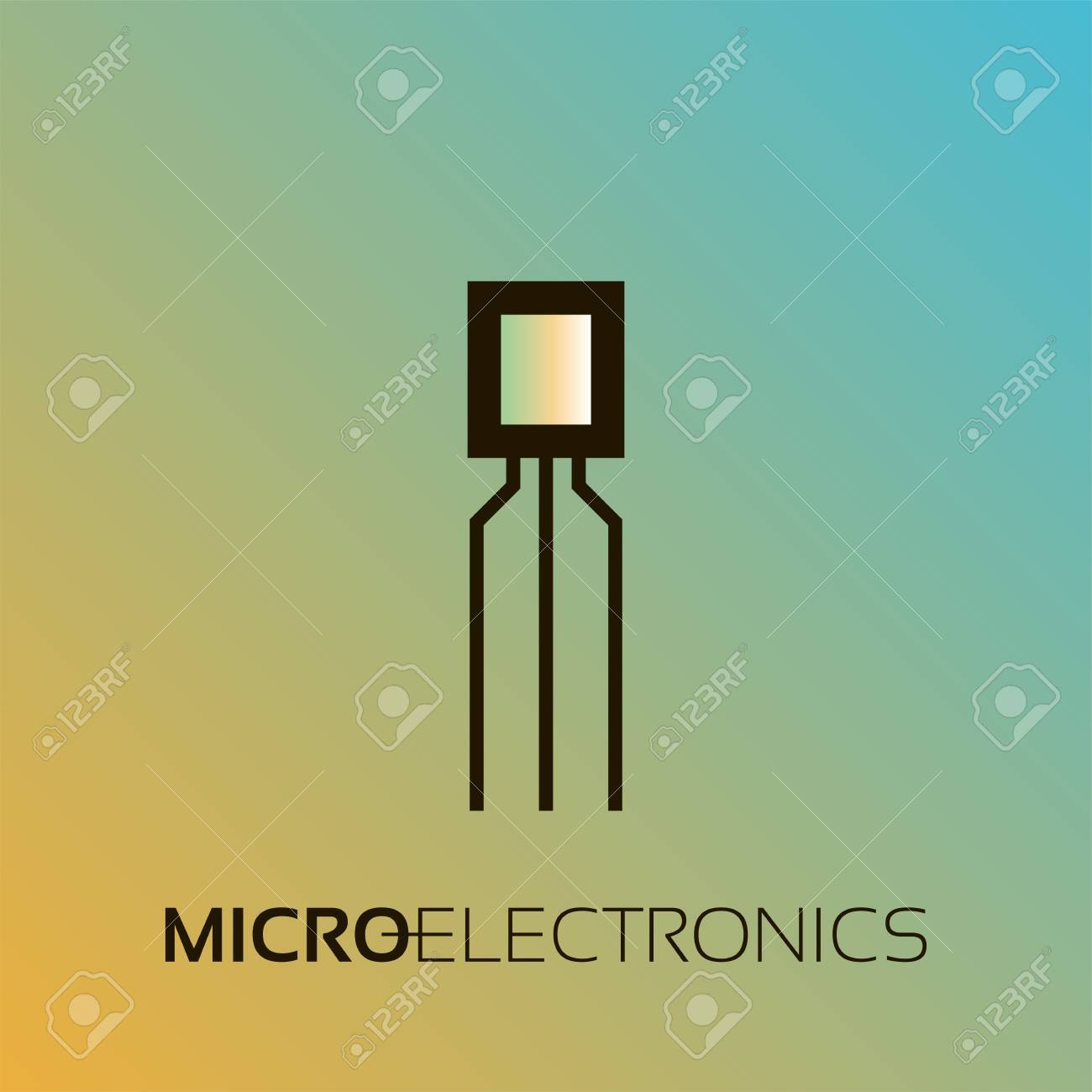 Electronic components  The sign and symbol for creation of logo