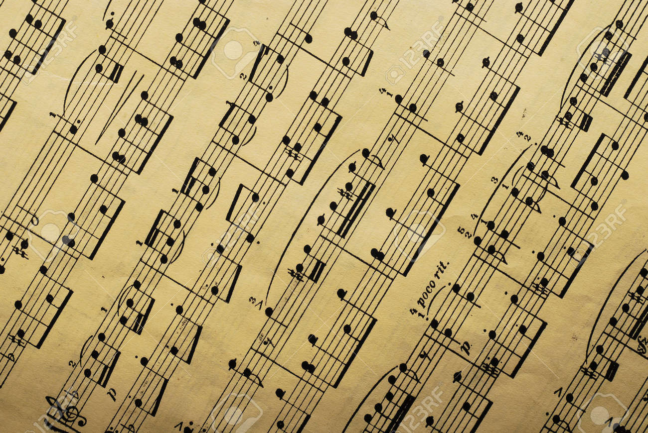 Music Paper Sheet Stock Photo, Picture And Royalty Free Image ...