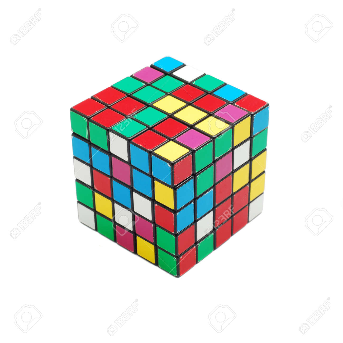 Caransebes, Romania, December, 22nd, 2011 - Rubik cube (scrambled) isolated on white background Stock Photo - 11728492