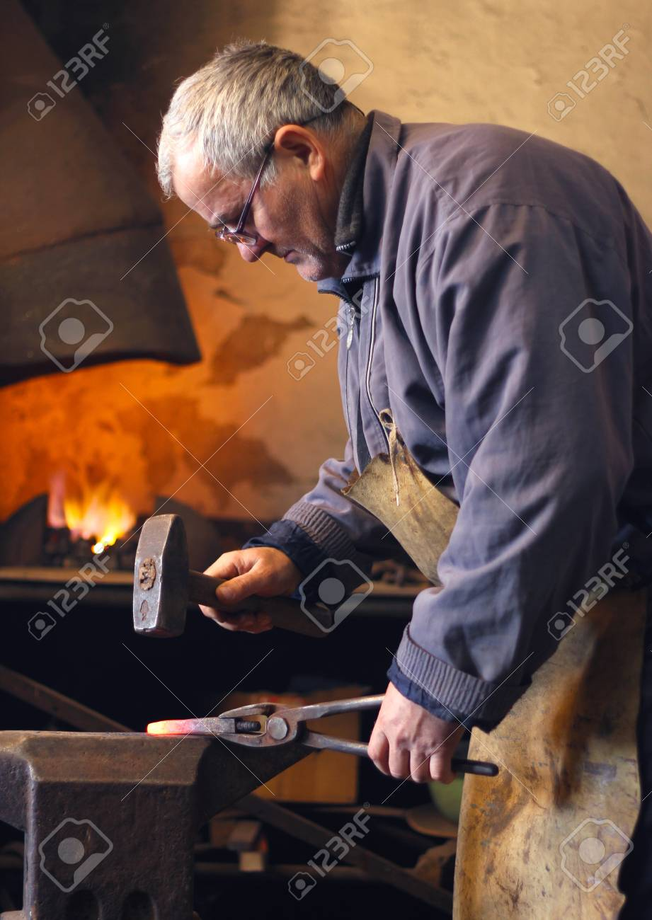 Blacksmith at work Stock Photo - 15574959