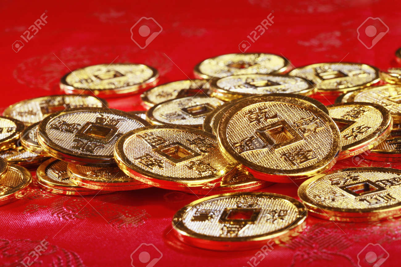 Antique chinese coins Stock Photo - 4186960