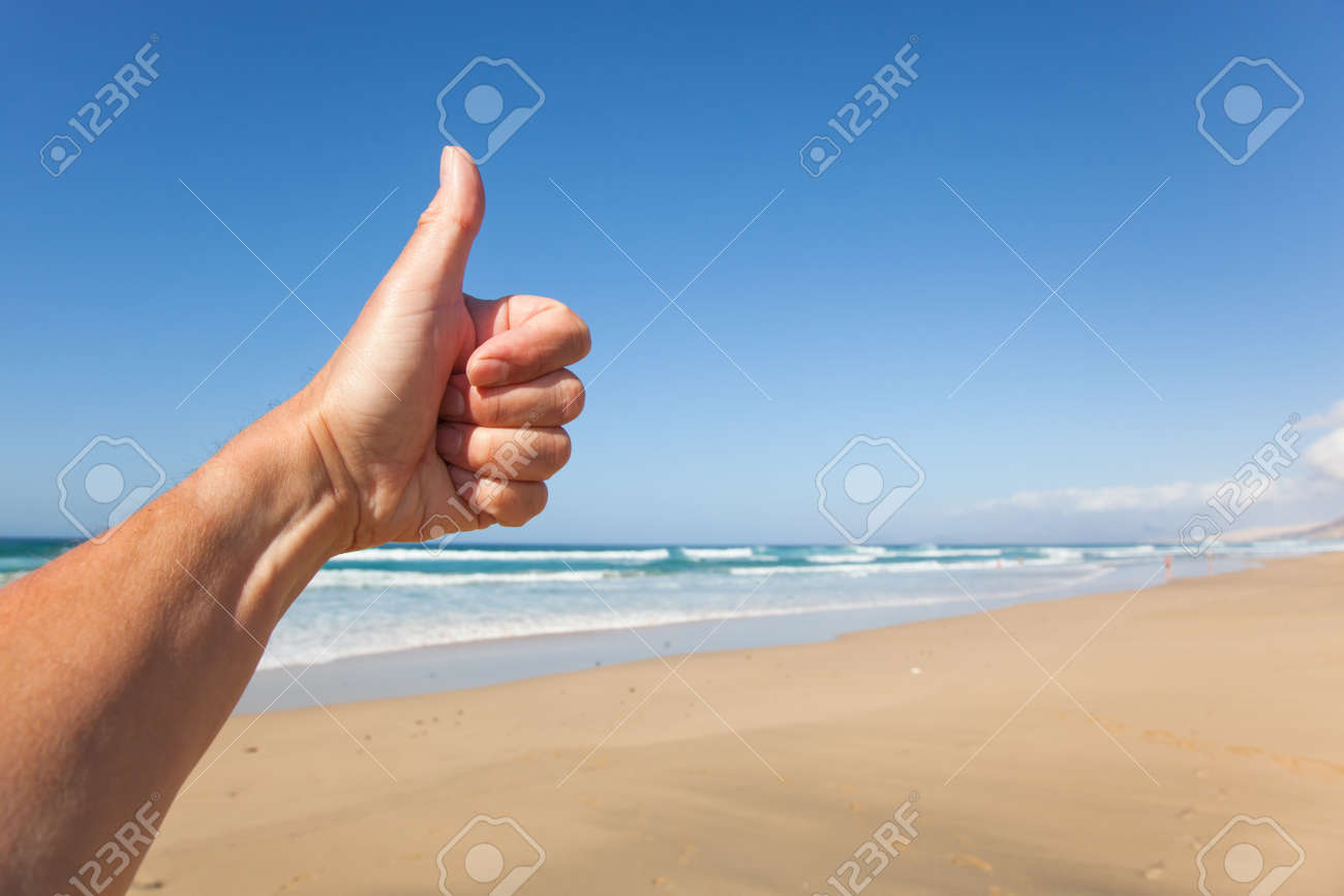 Beach thumb up