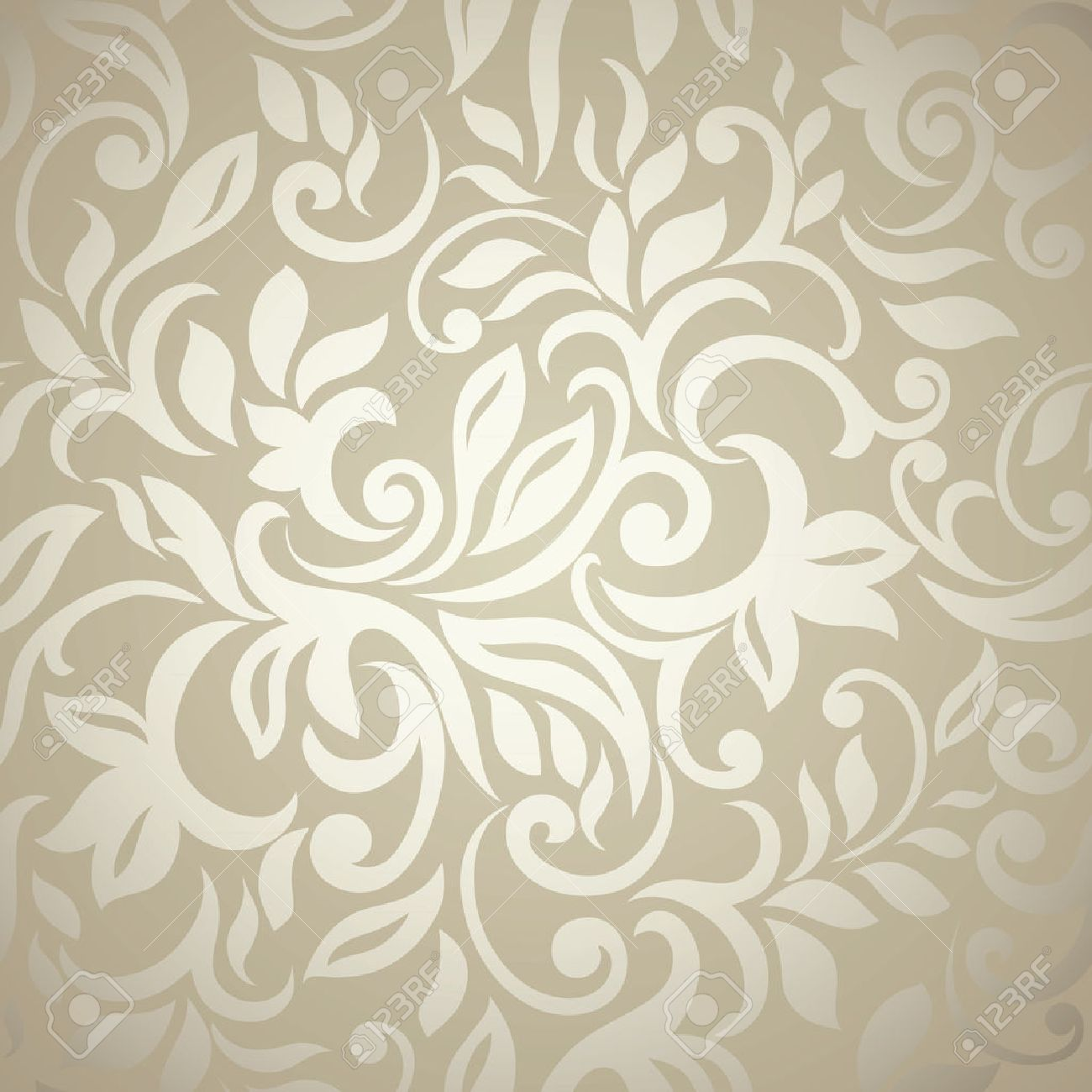 Elegant Stylish Abstract Floral Wallpaper Seamless Pattern Stock Vector