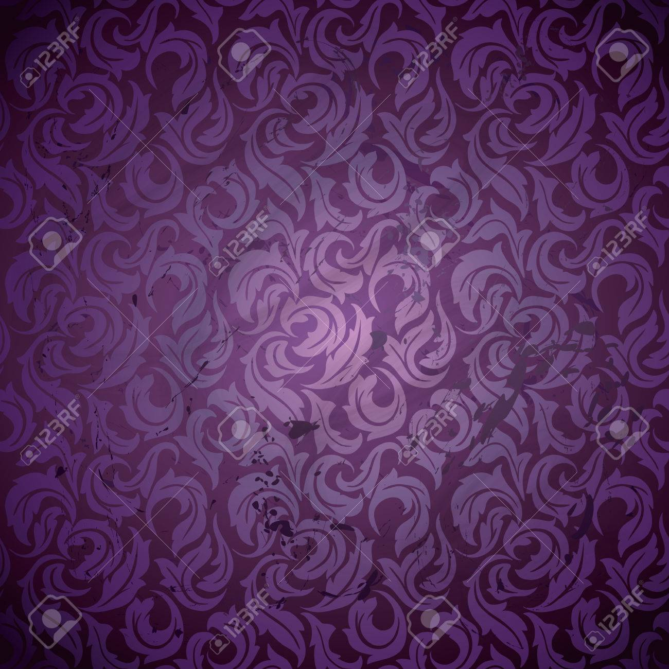 Luxury Abstract Floral Wallpaper Grunge Textured Design Royalty