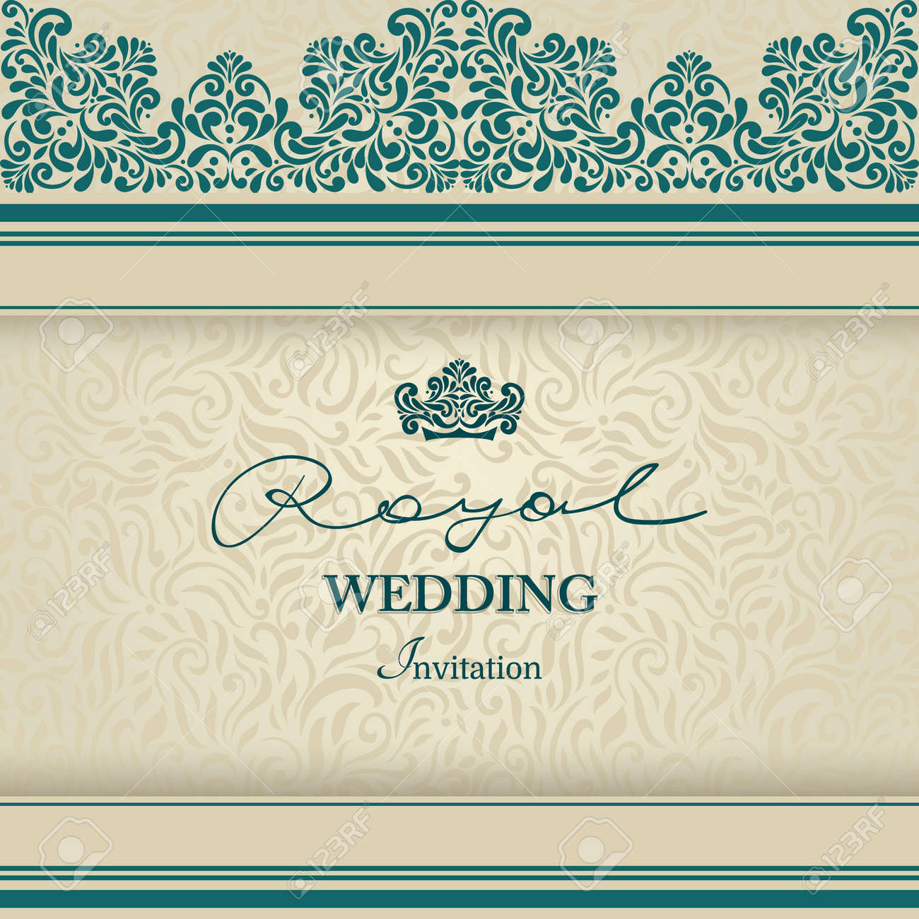 Royal wedding invitation vintage lace border elegant blue royalty royal wedding invitation vintage lace border elegant blue stock vector 37599733 stopboris Images