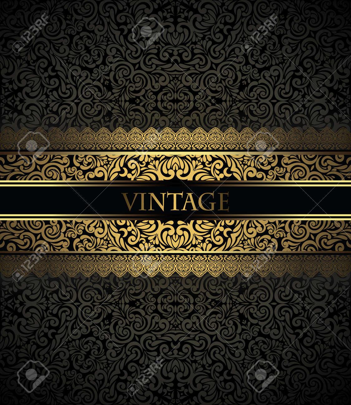 Invitation Card Baroque Golden And Black Vintage Frame Border – Invitation Card Border Design
