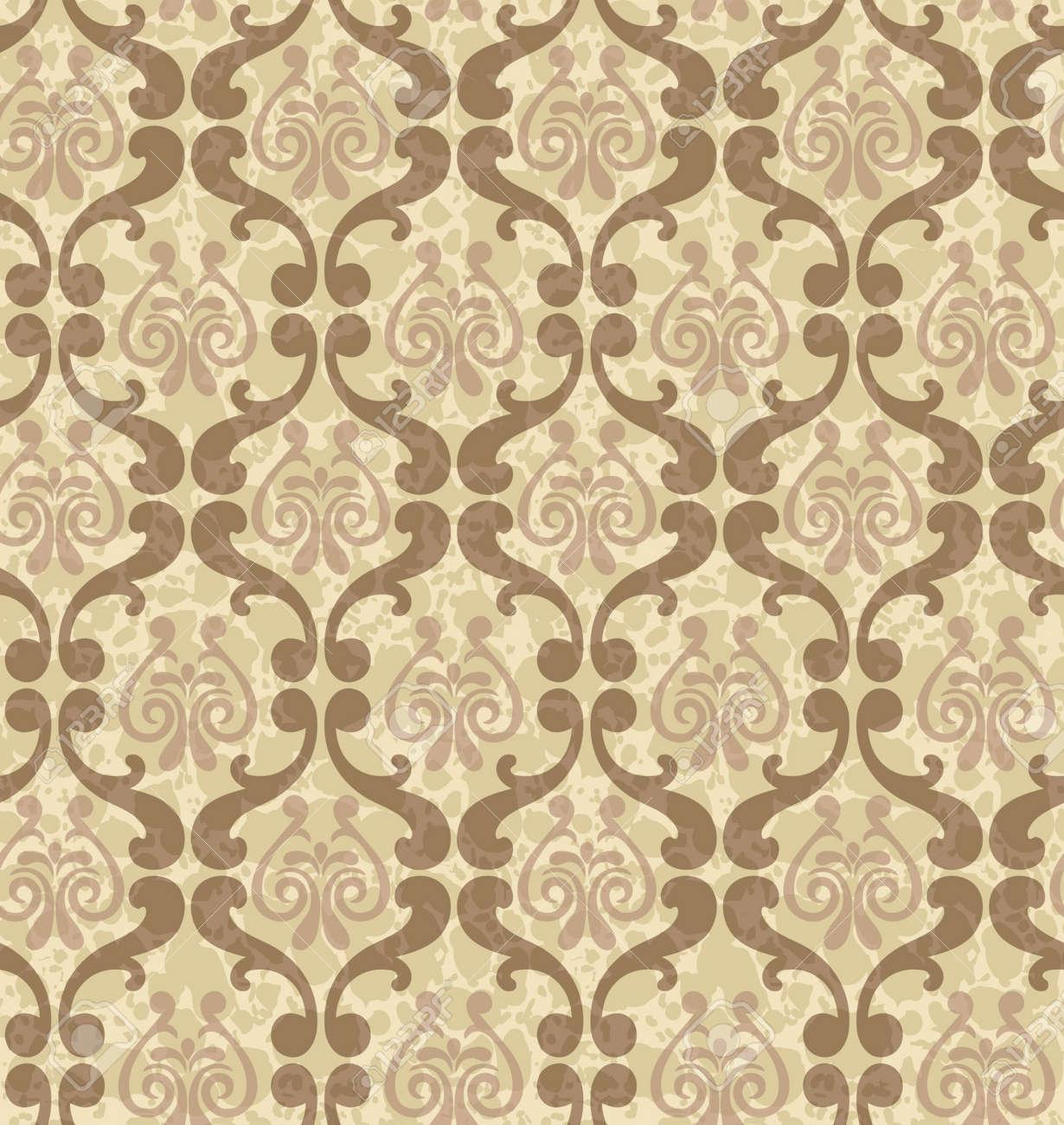 Retro Texture Papier Peint A Fleurs Ornementales Clip Art Libres De Droits Vecteurs Et Illustration Image 37928952