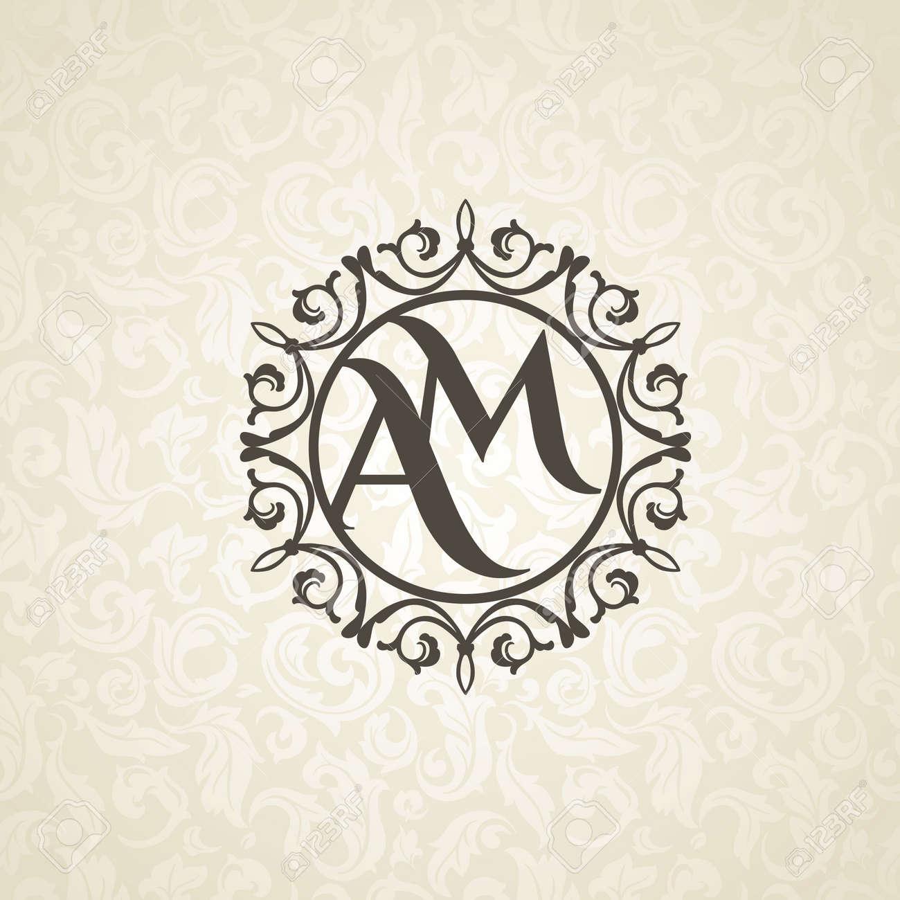 Monograma Moderno, Emblema, Logotipo De La Plantilla De Diseño ...