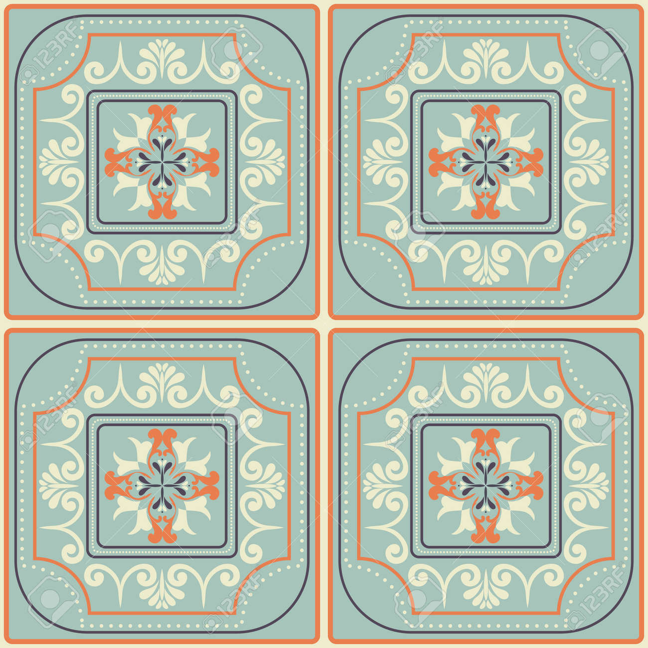 Tiles pattern with retro colored ceramic tiles royalty free tiles pattern with retro colored ceramic tiles stock vector 48770745 dailygadgetfo Images