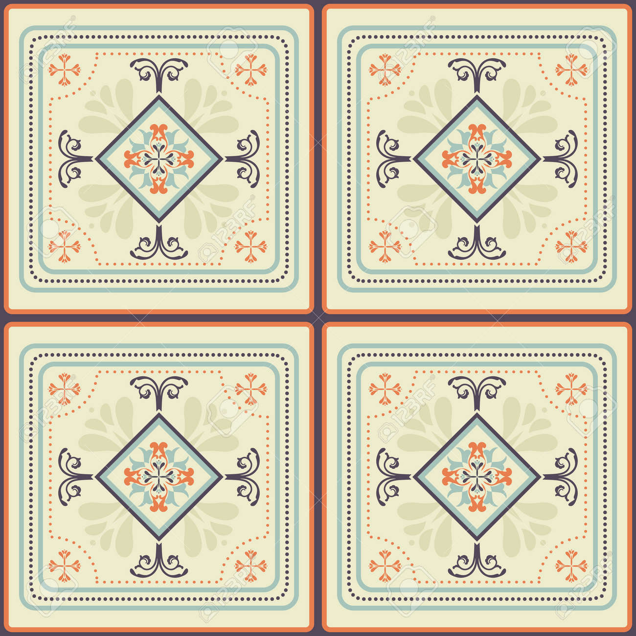 Tile pattern with beige colored ceramic tiles royalty free cliparts tile pattern with beige colored ceramic tiles stock vector 48770737 dailygadgetfo Images