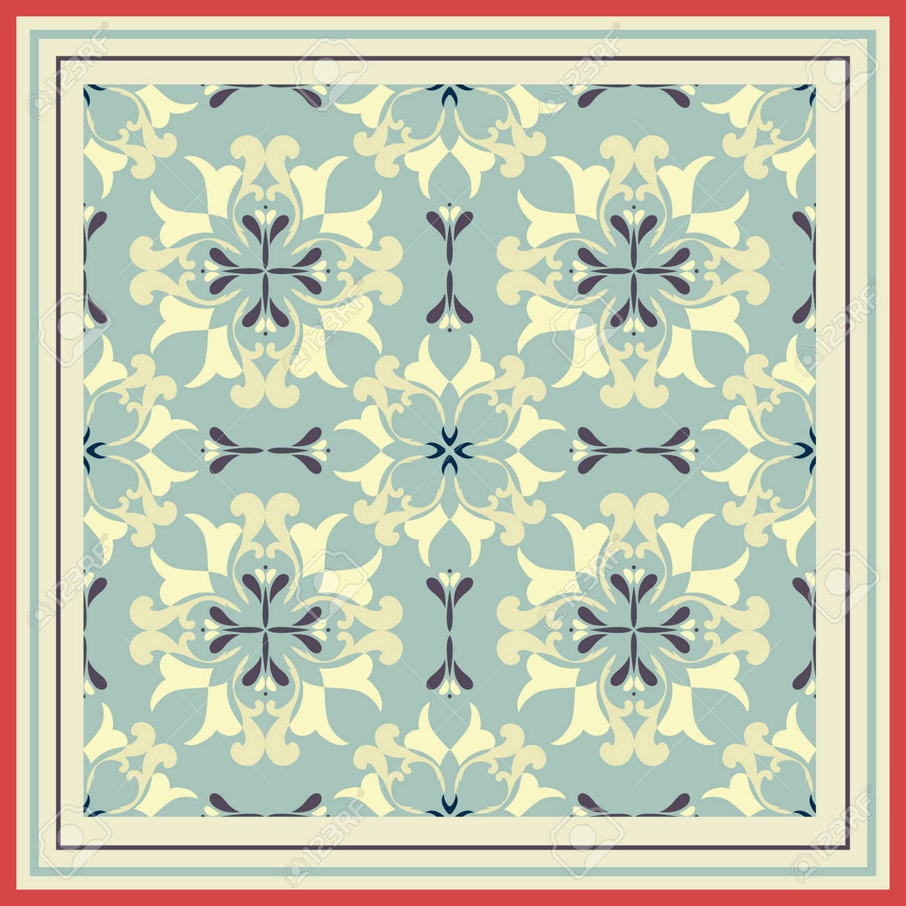 Tiles pattern with retro colored ceramic tiles royalty free tiles pattern with retro colored ceramic tiles stock vector 48771010 dailygadgetfo Images